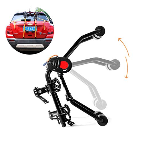 YYDE Percha para Bicicletas, Estante de aleación de Aluminio de Bicicletas, Enganche de Bloqueo en Rack para Bicicletas, Bicicletas de 2 utilizados en los automóviles, vehículos Todo Terreno,