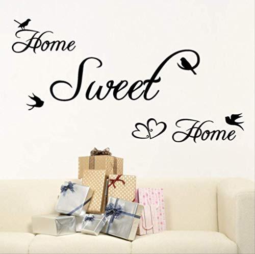 Muurstickers Zoete Huiskamer Decoratie DIY Home Decals Quotes Fotobehang Art Print Poster 65 cm X 35 cm