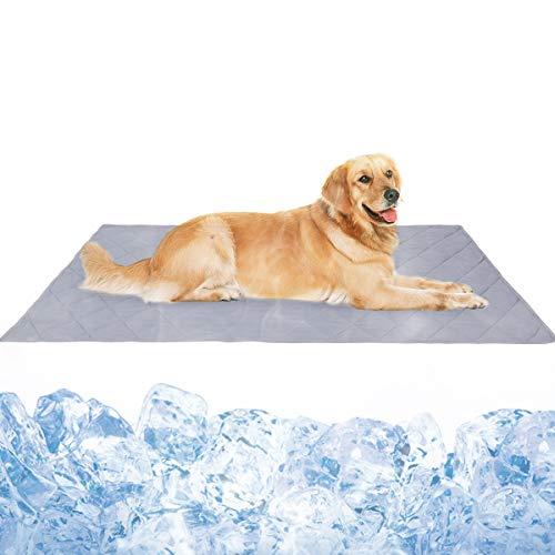 Tapis rafraîchissant pour chiens et chats - 110 x 80 cm - Tapis auto-rafraîchissant - Lavable - Pour lété et le chien - Idéal pour la maison et les voyages