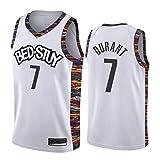 LUCKY 19-20 Nuevo Camiseta de Baloncesto de Los Brooklyn Nets - Camiseta de Kevin Durant N.O 7, Pantalones Cortos y Camisetas de Baloncesto Fans,7# b,XL