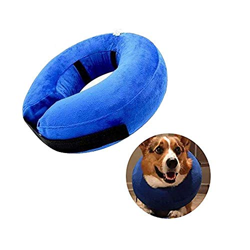 NEPPT Dog Cone Collar Soft Cat Inflatable for Dogs Recovery Cones Neck Donut Alternative Cone of Shame Dog Pet Elizabethan Collar Protective Wound Care Post Surgery Medical Surgical (XL)