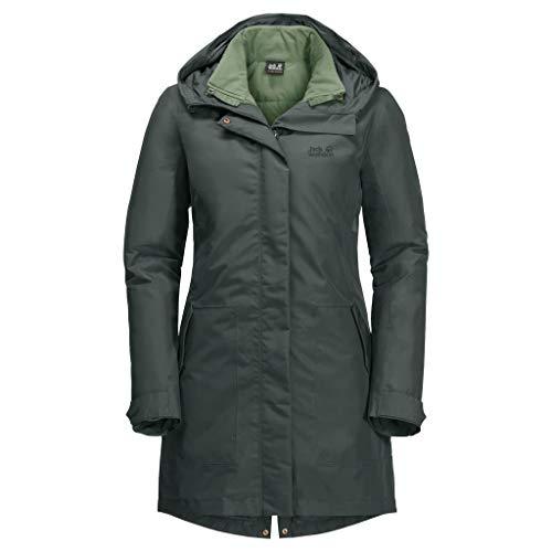 Jack Wolfskin Monterey Bay Veste Femme, Greenish Grey, FR : XL (Taille Fabricant : 5)