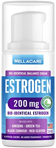Estrogen Estriol Cream for Menopause Relief (Bioidentical & Natural) Made in USA - May Assist Weight Loss, Hot Flashes Relief, Skin Care - PCOS Balance Supplement 200mg Phytoestrogen & Black Cohosh