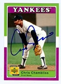 Chris Chambliss autographed baseball card (New York Yankees) 2001 Upper Deck Decade #42 - Autographed Baseball Cards