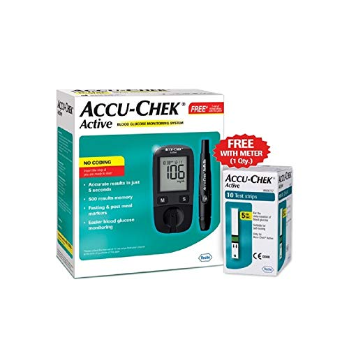 Accu-Chek Active Blood Glucose Meter Kit, Vial of...