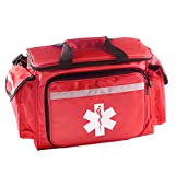 Primacare EMT First Responder Trauma Bag | Empty Deluxe EMS Shoulder Bag | Professional First Aid Kit Bag with 4 Large Compartments for Emergency Medical Supplies