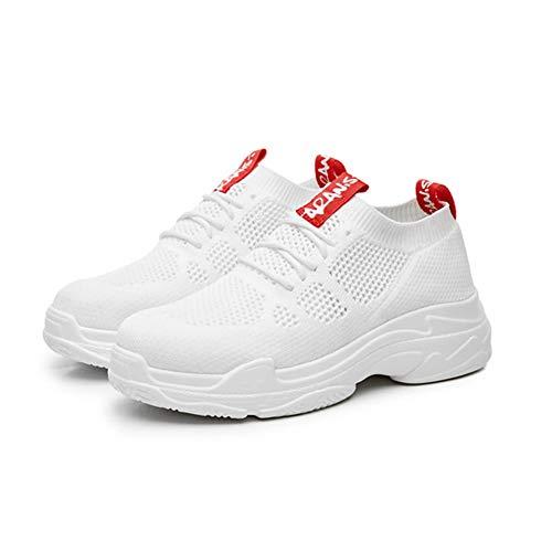 Frauen Outdoor Sportschuhe atmungsaktive Leinwandschuhe Sport Spitze lässige leichte rutschfeste Schuhe