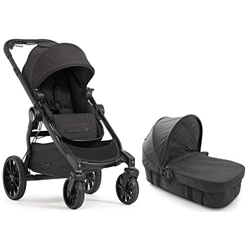 Baby Jogger City Select LUX Stroller | Baby Stroller with 20 Ways to Ride, Goes from Single to Double Stroller | Quick Fold Stroller, Granite with Baby Jogger City Select LUX Pram Kit, Granite