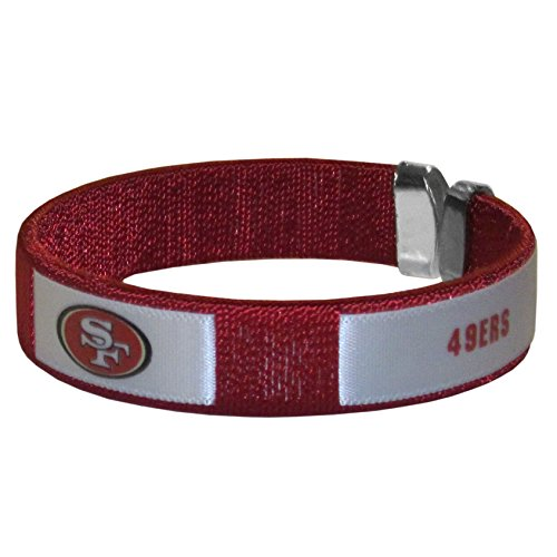 NFL Siskiyou Sports Fan Shop San Francisco 49ers Fan Bracelet One Size Team Color
