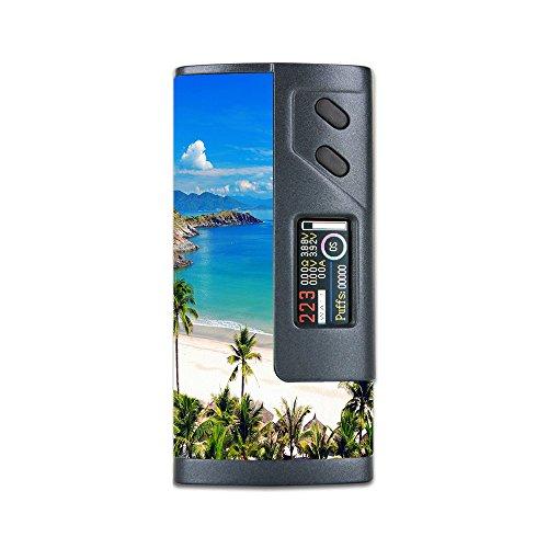 Skin Decal Vinyl Wrap for Sigelei Fuchai 213w PLUS Vape Mod Skins Stickers Cover / Tropical Paradise Palm Trees