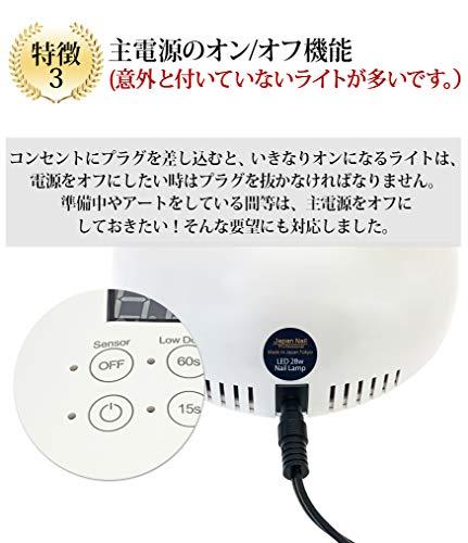 ジャパンネイルスクール『LEDライト28Wプロフェッショナル日本製』