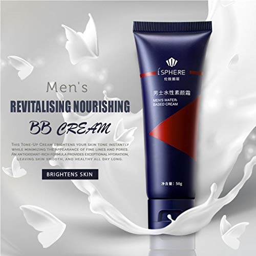 Herren BB Cream Revitalisierender Pflegender Tone-Up Concealer - Erweiterte Basis Creme Enhancer - Aufhellung Haut Natürlich, Versteckende Poren, Gesichts Feuchtigkeitscreme Für Alle Hauttypen (1Pc)