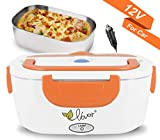 VOVOIR Boîte Chauffante Lunch Box Électrique à Lunch 12V 40W (Orange)