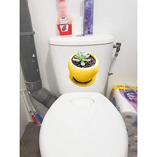 Liafa 20,4X23,4Cm Frische Blumentopf Wc Toilettensitz Aufkleber Cute Flesh Home Wall Decor Aufkleber 3 Pcs