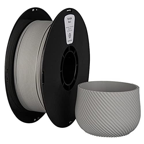 PLA K5M Filament Matte Polylactic Acid Filament 1.75mm, 3D PLA Filament 1kg2.2lb Spool, Dimensional Accuracy +/- 0.03 mm, Fit FDM 3D Printer-Cold Gray_1.75mm