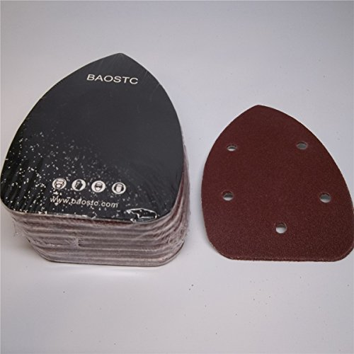 Find Bargain BAOSTC 3-3/45-1/2 P120 Palm sanding disc for BLACK&DECKER mouse sander 50PACK