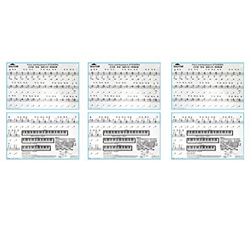 EXCEART Folhas de Teclas de Piano Teclado de Piano Removíveis 88 3 Nota para As Crianças a Aprender Piano Iniciante Formação