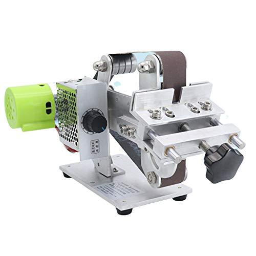 Huanyu Bandschleifer Mini Schleifmaschine Elektrische bandschleifmaschine DIY Schleifwerkzeug für Messer Holz mit 895/997 Motor (895 Motor, Ohne Batterie)
