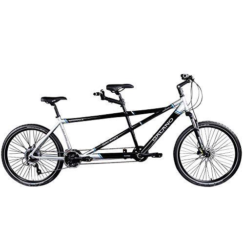 Galano Tandem Fahrrad 26 Zoll Mountainbike Nashville 24Gang MTB Hardtail Fahrrad (schwarz/grau, 53/46 cm) - 2