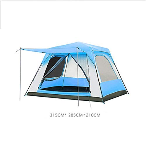 Tent Fully automatic tent Outdoor camping tent 3 color villa tent can accommodate 8-10 people suitable for camping (Color: blue Size: one size)