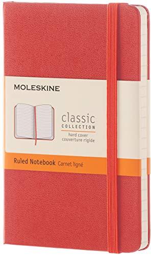 Moleskine Notizbuch, Pocket, A6, Liniert, Hard Cover, koralle