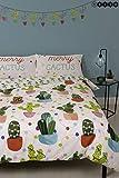 HIVE Merry Cactus - Juego de funda de edredón y funda de almohada a juego, diseño reversible de Navidad
