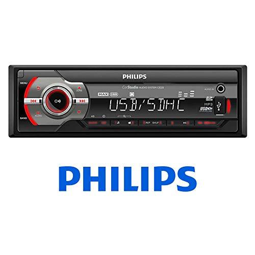 Philips Autoradio ohne Mechanik, USB, SD, MP3, 4 x 50 W, RDS