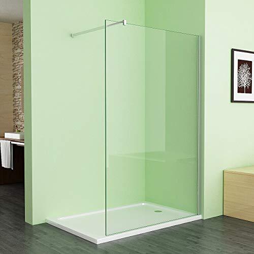 Duschabtrennung Walk in Dusche 70 x 195cm Duschwand Duschtrennwand 8mm ESG NANO klares Glas