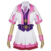 最新の 競馬女の子コスプレ衣装ユニフォームのアニメ衣装ゲームのパフォーマンスコスチュームロールプレイコスプレコスチュームのフルセット (Size : XL)