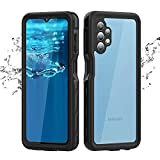 Samsung Galaxy A32 5G Waterproof Case with Screen Protector, Rugged PC + Soft Rubber Protective Case, Rugged Heavy Duty Full Body Underwater Protective Cover Case for Galaxy A32 5G(Black) (Black)
