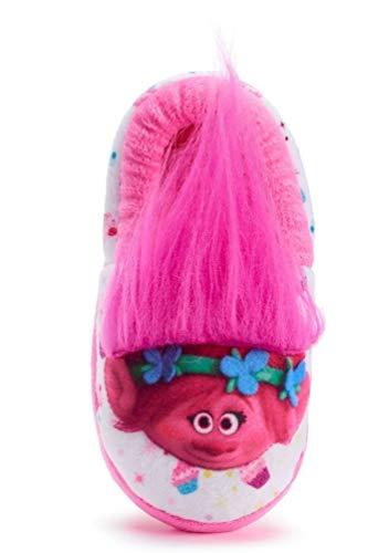 ACI Int'l Toddler Girls Trolls Poppy Slippers Pink White Size 7/8