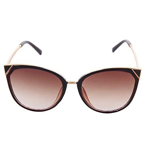 OGOBVCK frauen sind moderne mode - spiegel cateye sonnenbrille uv400 (tee)