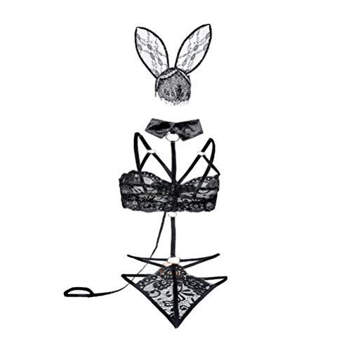 PRETYZOOM Bunny Girl Unterwäsche Sexy Cosplay Kostüm Sexy Dessous Verführerische Unterwäsche für Frauen Frauen Erwachsene (M Größe) CAN BE Used All Year Round