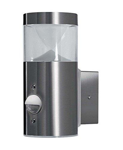 OSRAM - Applique extérieure LED ENDURA STYLE Mini Cylinder Wall - Détecteur de Mouvements - 4W Equivalent 21W - Acier Inox - Garantie 5 ans