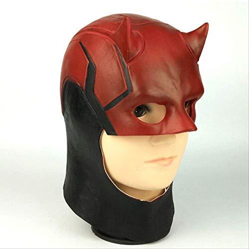 ZhuYiCheng Superheld Ultra Darede Daredevil Latexmaske, Cosplay Halloween Kapuzenhelm, Marvel Charaktere