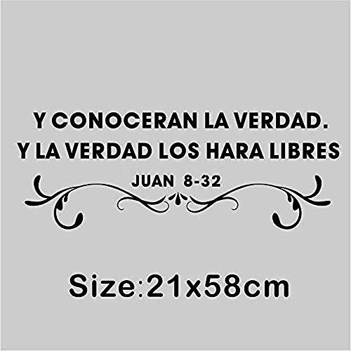 Frases cristianas españolas Pegatinas de pared y vinilos decorativos