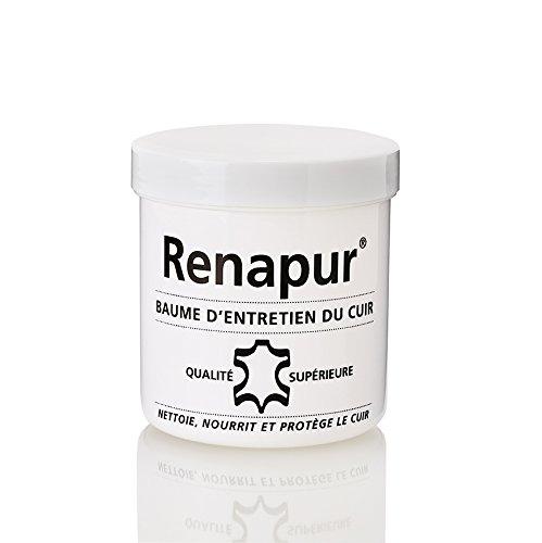 Renapur Baume d'entretien pour le cuir 220ML + 2 éponges (marque Française)