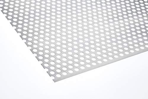Lochblech Aluminium RV 10-15 2mm Zuschnitt individuell auf Maß NEU günstig (500 mm x 300 mm)