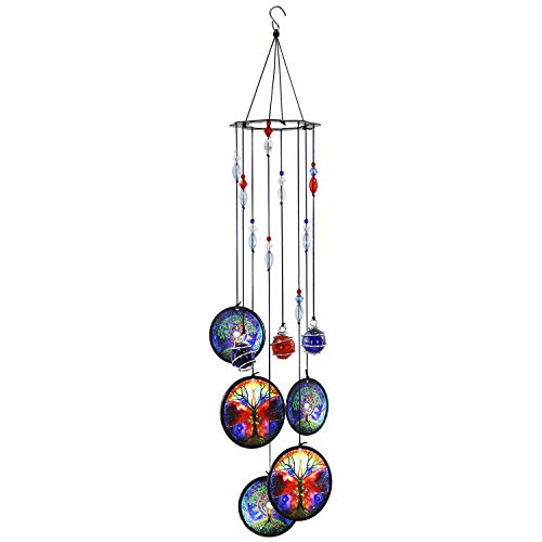 Peonyfun Tree of Life Wind Chimes Outdoor, Memorial Wind Chimes, Sympathy Wind Chimes for Garden,Patio, Home or Outdoor Decor