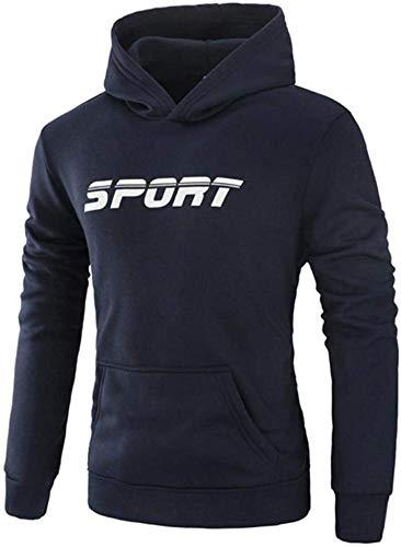 Latoshachase Men's Hoodies, Long Sleeve Letter Hooded Sweatshirt Tops Jacket Coat Outwear
