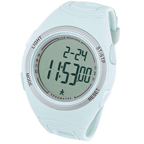 [LAD WEATHER]ウォーキング腕時計 歩数計 ストップウォッチ スポーツ アウトドア時計 lad011 (ブルーグラス)