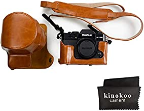 kinokoo Fujifilm PU Leather Camera Case,Fullbody Case Cover for Fujifilm XT30 XT20 XT10 with 16-50mm and 18-55mm Lens-Brown