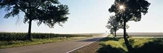 Posterazzi Road Passing Through Fields Route 64 Illinois USA Poster Print (18 x 6)