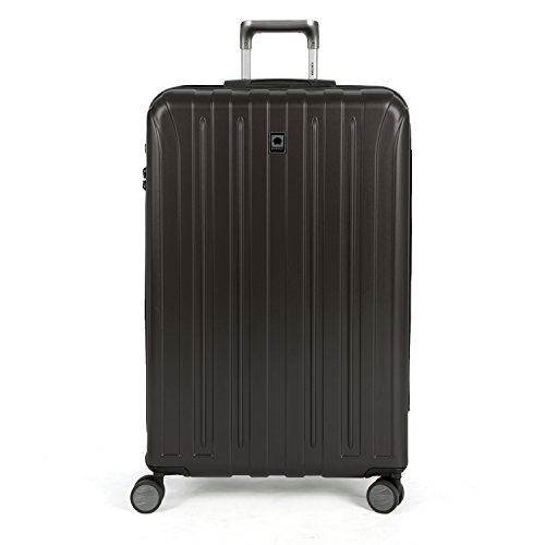 DELSEY Paris Titanium Hardside Expandable Luggage with Spinner Wheels, Black, Checked-Large 29 Inch