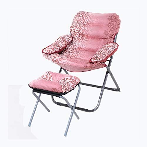 CHANG-Sillas Sillón de Hospital, Cama de acompañamiento Silla Plegable Silla sin Espacio Silla de Descanso Silla para Dormir Silla cómoda Silla Lavable (Color : Pink)