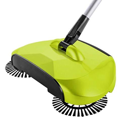 GARNECK Barredora de Empuje Barredora de Alfombras de Suelo Limpiador de Barredora Manual Fregona de Limpieza de Suelo Giratoria de 360 ° para El Hogar (Verde)