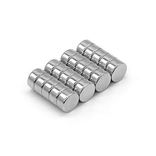 DESPANO 20 Mini Magnete, 6 x 3 mm, ultrastark/Kühlschrank-Magnete/Neodym-Magnete/Tafel-Magnete/Magnete rund / N45 / Scheibenmagnete
