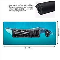 クジラ 鯨 海 マウスパッド ゲーミングマウスパット デスクマット キーボードパッド 滑り止め 高級感 耐久性が良い デスクマットメ キーボード パッド おしゃれ ゲーム用(90cm*40cm)