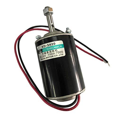 H HILABEE Gleichstrommotor, 12V 30W 3000RPM CW / CCW Umkehrbarer Permanentmagnet Elektromotor Für Rasenmäher, Kleine Generatoren, Stöße, Gebläse