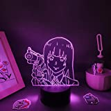 3D LED Sleep Light Art Online 3D Night Lights Anime Figures RGB Neon Battery Touch Lava Lamp LED Manga Table Desk Decoration Desktop Orns